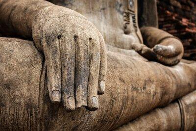 Poster Buddha-Statue Hand Nahaufnahme Detail