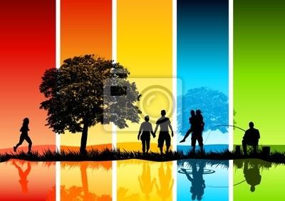 Poster Bunte Family Scene