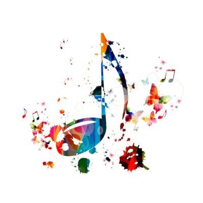 Poster Bunte Musik Hintergrund