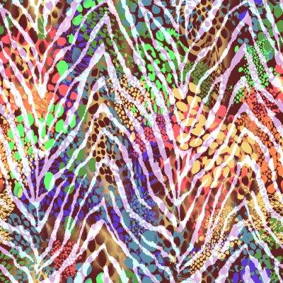 Poster Bunte Zebra Textur auf Flecken ~ nahtlose Hintergrund