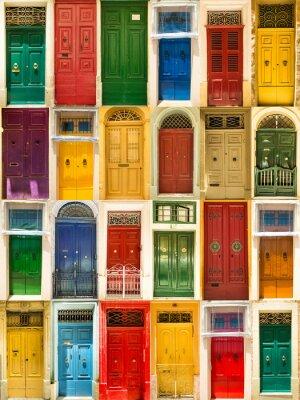 Poster bunten Haustüren, um Häuser