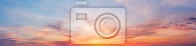 Poster Bunter Sonnenuntergangsdämmerungshimmel