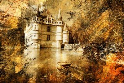 Burg - Bildmaterial in der Malerei Stil