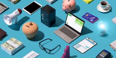 Poster Business and finance desktop