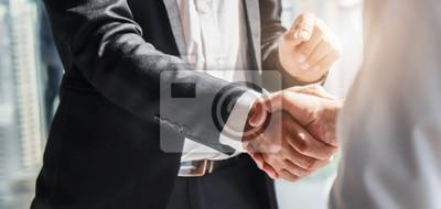 Poster business background of businessman having handshake