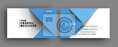 Poster Business Card - Creative and Clean Modern Business Card Template.
