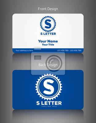 Business Card Set & S Buchstaben Logo-Design