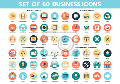 Poster Business icons set for business