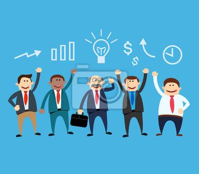 Poster Business-Team. Geschäftsmann mit Idee. Business-Konzept-Abbildung