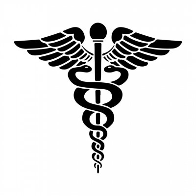 Poster Caduceus - Medical Snake Logo Icon Vector Eps Isolated on White