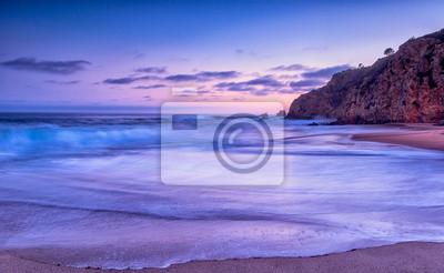 Poster California Beach Sonnenuntergang