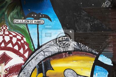 Callejon de Hamel wall painting, Havana, Cuba