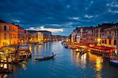 Canal Grande bei Nacht, Venedig