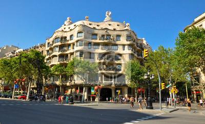 Casa Mila oder La Pedrera.Antoni Gaudí. Barselona.