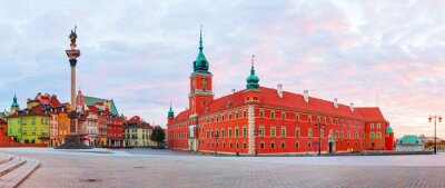 Castle square panorama in Warsaw, Poland