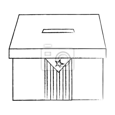 Catalunya Flagge Unabhängigkeit Abstimmung Symbol Bild Vektor