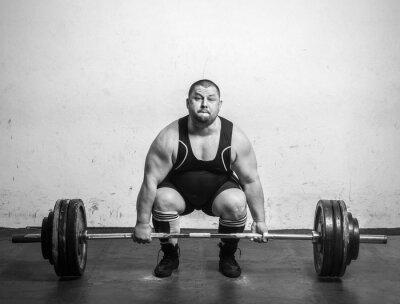 Poster Champion Powerlifter mit starken Armen heben Gewichte