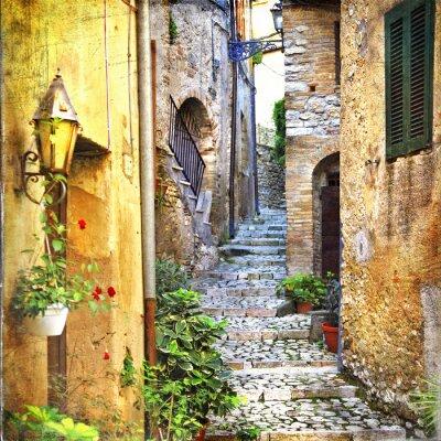 Poster charmanten alten Straßen von mediterran