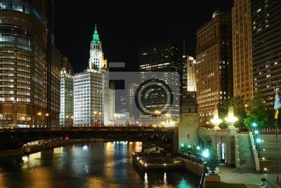Chicago in der Nacht, IL, USA, 2007