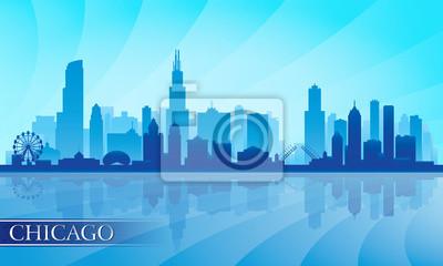 Chicago Skyline der Stadt detaillierte Silhouette