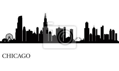 Chicago Skyline Silhouette Hintergrund