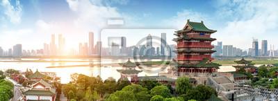 Poster Chinesische klassische Architektur