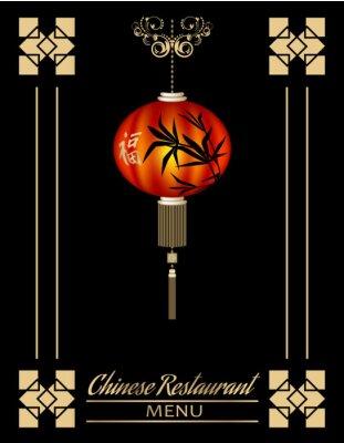 Poster Chinesische Restaurant-Menü-Abdeckung