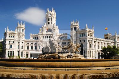 Cibeles-Brunnen in der Innenstadt von Madrid, Spanien