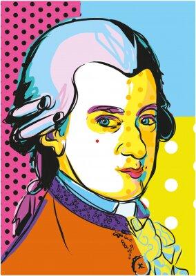 Poster classic musician Mozart