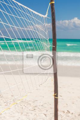 Close up Basketballkorb auf die leere tropischen exotischen Strand