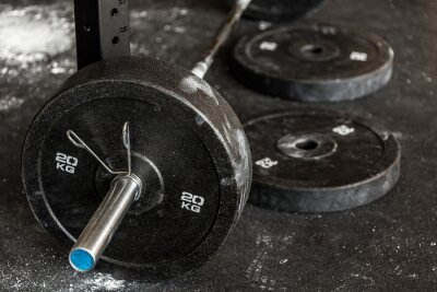 Poster Close-up of barbell