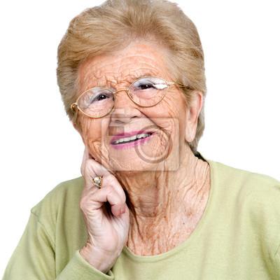 Close up Portrait der älteren Frau.