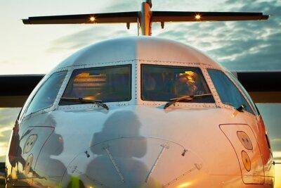 Poster Cockpit des Flugzeuges