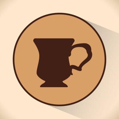 Poster Coffe Ikonenentwurf