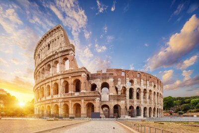 Poster Coliseum or Flavian Amphitheatre (Amphitheatrum Flavium or Colosseo), Rome, Italy.