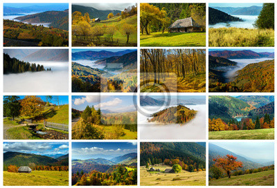 Collage Herbstlandschaft