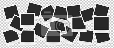 Poster Collage von realistischen Vektor-Bilderrahmen isoliert. Vorlage Retro-Foto-Design, Vektor-Illustration