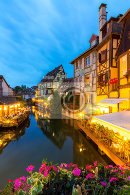 Colmar Frankreich Nacht