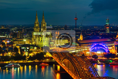 Cologne, Germany aerial overview