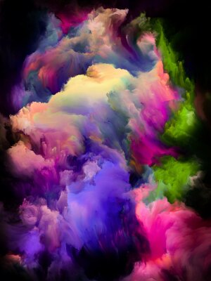 Poster Colorful Cloud Abstraction