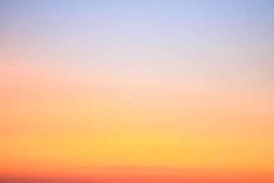 Poster Colorful sunset sky for nature background with copy space