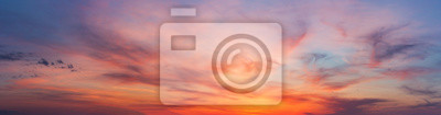 Poster Colorful sunset twilight sky