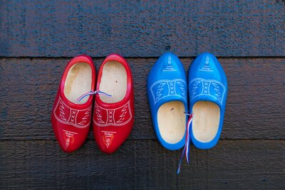 colorful wooden shoes