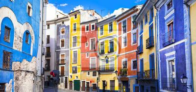 colors of mediterranean towns series - streets of Cuenca, Spain