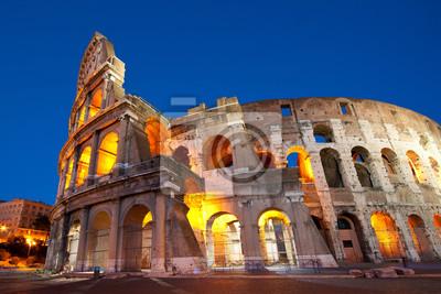 Colosseum Abenddämmerung, Rom Italien