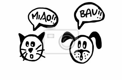 Comic Haustiere