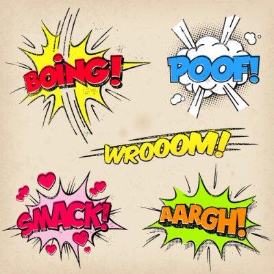 Poster Comic-Sound-Effekte mit Grunged Stil