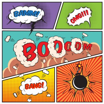 Poster Comic-Sprechblasen