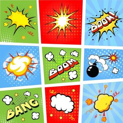 Poster Comic Sprechblasen und Comic-Hintergrund Illustration