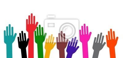 Poster Communauté - Netz en l'air - Abstimmung à main levée
